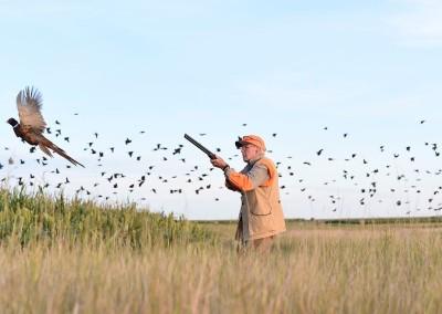 Tom Brokaw in the fields