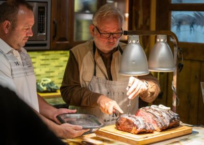 Paul and Erik serving their Famous Prime RIb