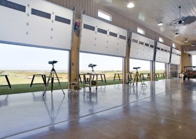 Inside The Range with Doors Open