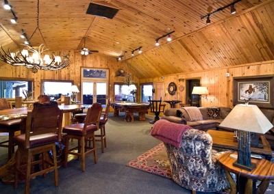 Main Lodge Upper Bar and Game Area