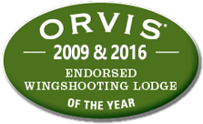 Orvis 2009 & 2016 Wingshooting Lodge of Year