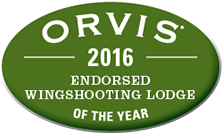 Orvis 2016 Wingshooting Lodge of Year